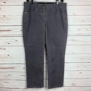 Theory Jeans Emme C Montana Grey Crop Straight Leg